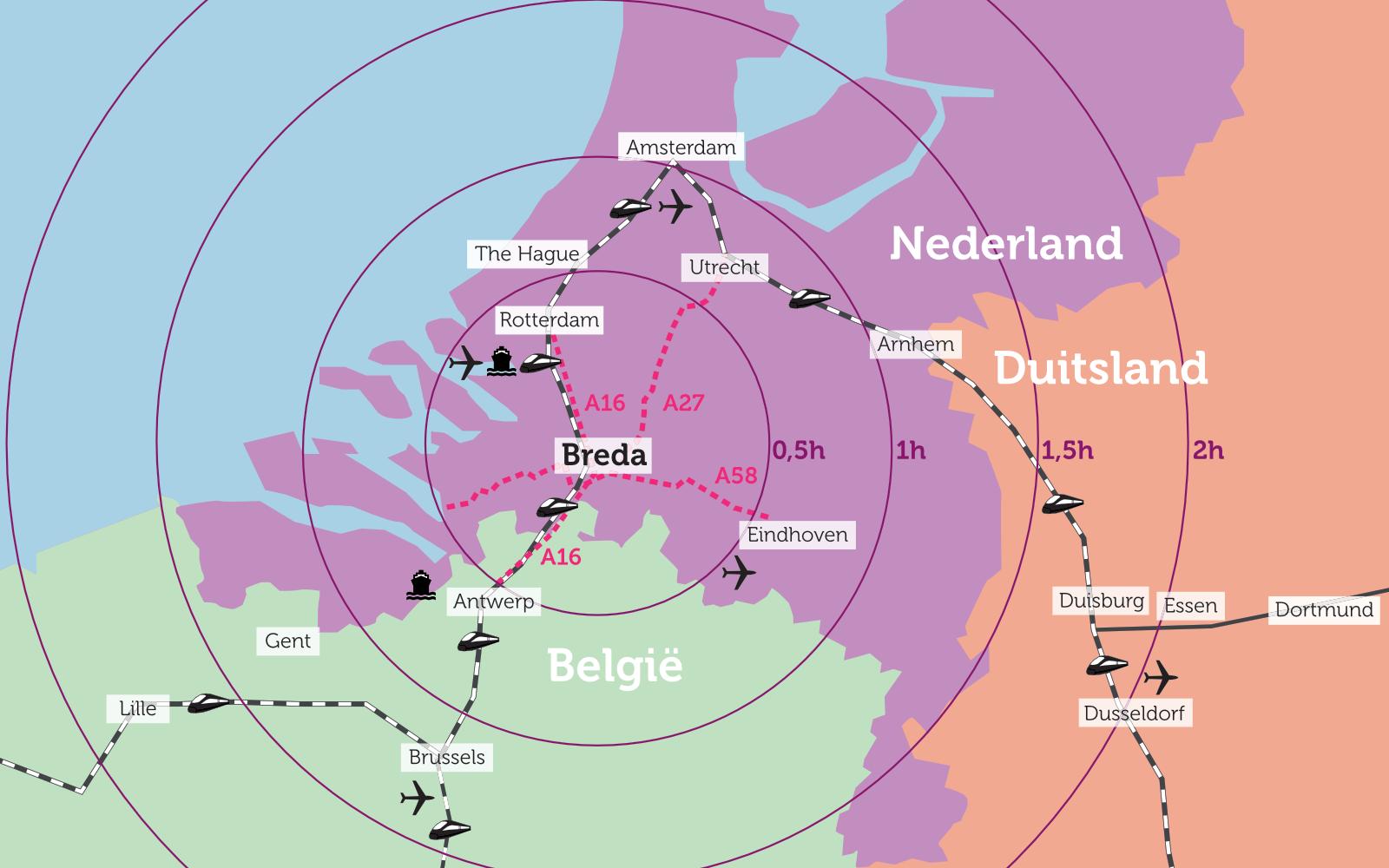 Breda, ontwikkeling 5 bedrijfsunits
